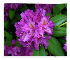 Washington Coastal Rhododendron Fleece Blanket