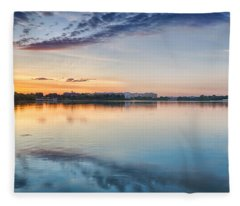 Washington Dc Panorama Fleece Blanket