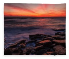 Washington Oaks Winter Sunrise Fleece Blanket