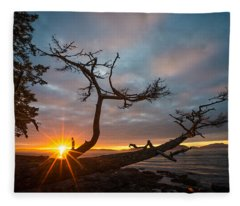 Washington Park Sunset Fleece Blanket
