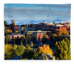 Washington State University In Autumn Fleece Blanket