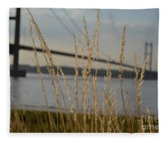 Wasting Time By The Humber Fleece Blanket