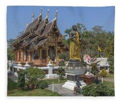 Wat Chedi Liem Phra Ubosot Dthcm0831 Fleece Blanket