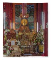 Wat Chedi Liem Phra Wihan Buddha Image Dthcm0827 Fleece Blanket