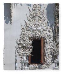 Wat Rong Khun Ubosot Window Dthcr0042 Fleece Blanket