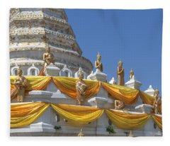 Wat Songtham Phra Chedi Buddha Images Dthb1916 Fleece Blanket