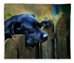 Watching The Life Passing By Fleece Blanket