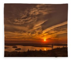Watching The Sunrise Fleece Blanket