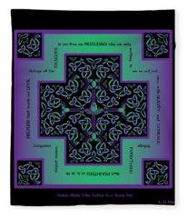 Water Dragon Celtic Cross Fleece Blanket