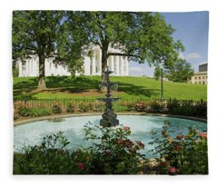 Water Fountain And Virginia State Fleece Blanket