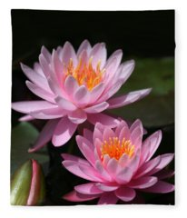 Water Lilies Love The Sun Fleece Blanket