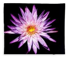 Water Lily. Fleece Blanket