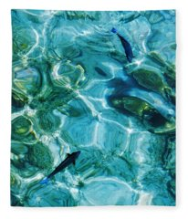 Water Meditation II. Five Elements. Healing With Feng Shui And Color Therapy In Interior Design Fleece Blanket