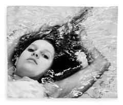 Water Portrait Fleece Blanket