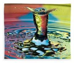 Water Splash Art Fleece Blanket