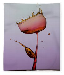 Water Tulip Fleece Blanket