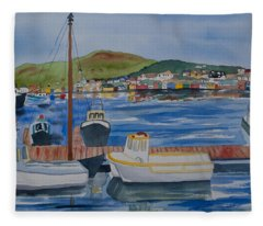 Watercolor - Dingle Ireland Fleece Blanket