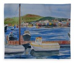 Watercolor - Dingle Ireland Fleece Blanket