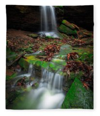 Frankfort Mineral Springs Waterfall  Fleece Blanket