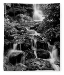 Waterfall At Rainbow Springs Fleece Blanket