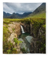 Waterfall In Coire Na Creiche The Fairy Fleece Blanket