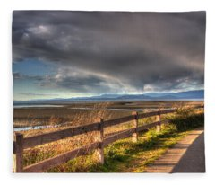 Waterfront Walkway Fleece Blanket