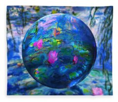Lilly Pond Fleece Blanket