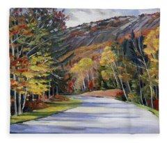 Waterville Road New Hampshire Fleece Blanket