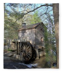 Waterwheel At Stone Mountain Fleece Blanket