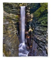Watkins Glen Cascade Fleece Blanket
