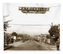 Watsonville California  The Apple City Circa 1926 Fleece Blanket