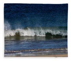 Waves And Surf Fleece Blanket