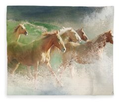 Waves Of God's Glory Fleece Blanket