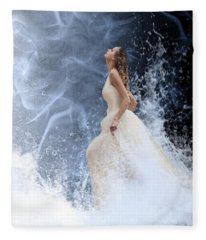 Waves Of His Glory Fleece Blanket