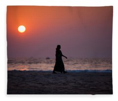 Way Home. Goan Sunset. India Fleece Blanket
