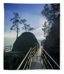 Way Into The Light On Neurathen Castle Fleece Blanket