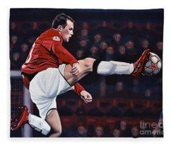 Wayne Rooney Fleece Blanket