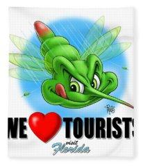 We Love Tourists Mosquito Fleece Blanket