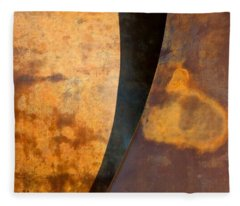 Weathered Bronze Abstract Fleece Blanket