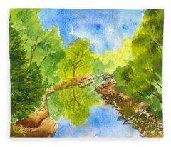 Weber River Reflection Fleece Blanket