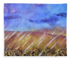 Weeds Among The Wheat Fleece Blanket