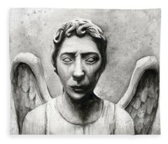 Weeping Angel Don't Blink Doctor Who Fan Art Fleece Blanket