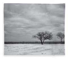 Weeping Souls Of Winter Desires Fleece Blanket