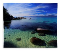 Welcome To Bliss Beach Fleece Blanket