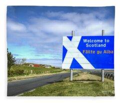 Welcome To Scotland Fleece Blanket