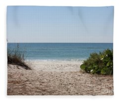 Welcome To The Beach Fleece Blanket