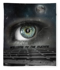 Welcome To The Machine Fleece Blanket
