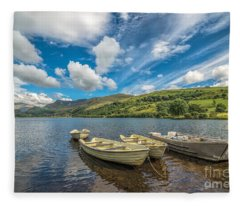 Welsh Boats Fleece Blanket