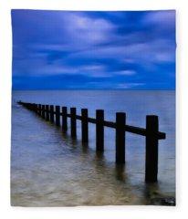 Welsh Seascape Fleece Blanket