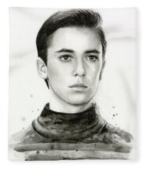 Wesley Crusher Star Trek Fan Art Fleece Blanket